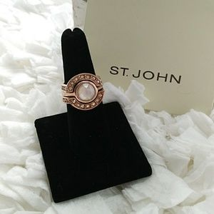 ST JOHN 3 PIECE STACKABLE RING SIZE 7